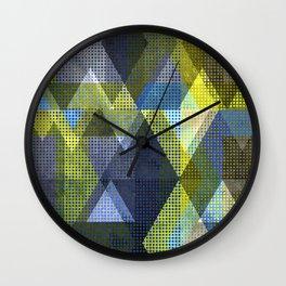 Modern Triangles Wall Clock