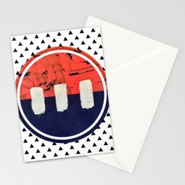 Stitch in Time - small triangle graphic Stationery Cards