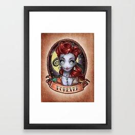 FOREVER pinup Framed Art Print