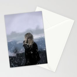 Contemplating on a cold day Stationery Cards