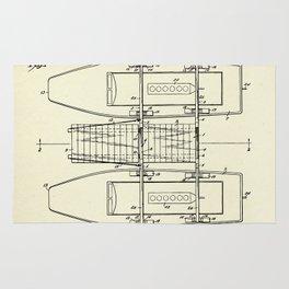 Pontoon Boat 01-1944 Rug