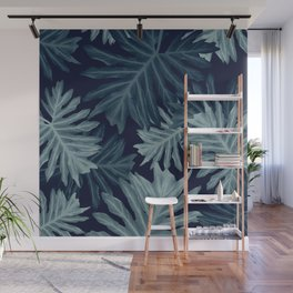 Philo Hope - Tropical Jungle Leaves Pattern #5 #tropical #decor #art #society6 Wall Mural