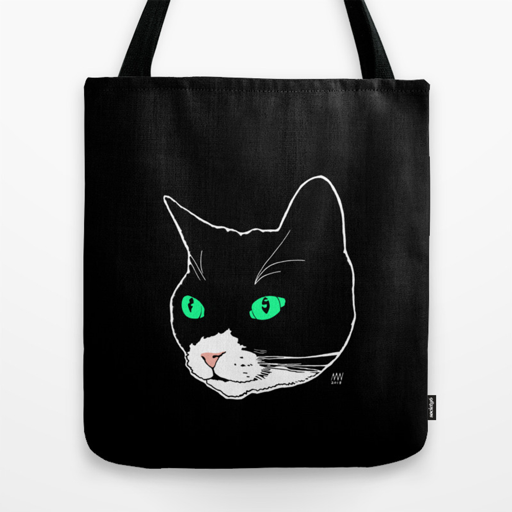 Green-eyed Pep Tote Purse by Catandgold (TBG9245458) photo