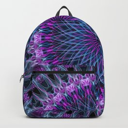 Pretty mandala in pink, blue and violet Backpack