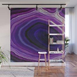 Swirled Purple Geode Wall Mural