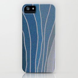 Flowing Blue Shapes iPhone Case