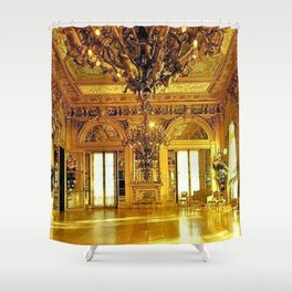 Newport Mansions, Rhode Island - Marble House - Gold Room #2 Shower Curtain