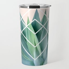 Agave geometrics - peach Travel Mug