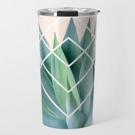 Agave geometrics - peach Travel Mug