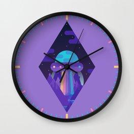 ROYGBIV Flying-Saucer Wall Clock