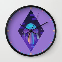 ROYGBIV Flying-Saucer Wall Clock