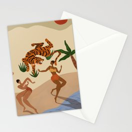 Dancing with Tigers Stationery Cards