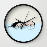 mermaid Wall Clocks featuring Mermaid by Hypathie Aswang