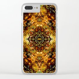 Abstract Acrylic Gem Painting Clear iPhone Case