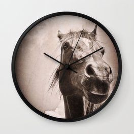 Regal Arabian Horse Spring Storm  Wall Clock