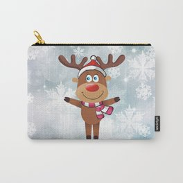 Сheerful deer. Merry Christmas! Carry-All Pouch