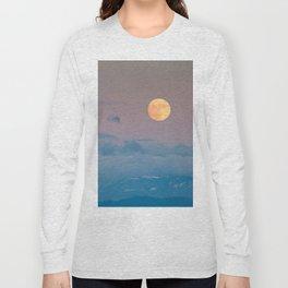 Full super moon December 2017 Long Sleeve T-shirt