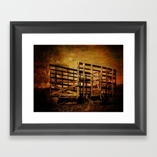 Waiting for the Hay Framed Art Print