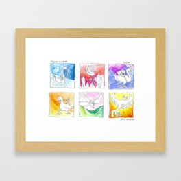 travels by bird Framed Art Print