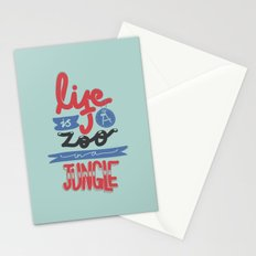 Life Is A Zoo In A Jungle Stationery Cards