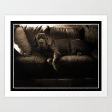 My dog - a Mastino Napoletano  Art Print