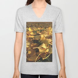 Beautiful Ginkgo leaves Unisex V-Neck
