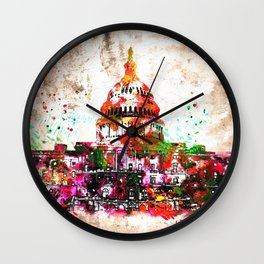 United States Capitol Grunge Wall Clock
