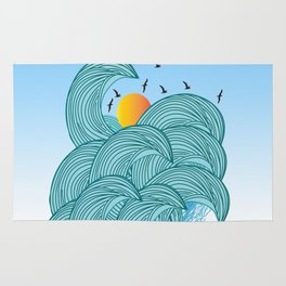 sea wave 4 Rug