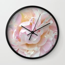 Pink Petal Flower Power Wall Clock