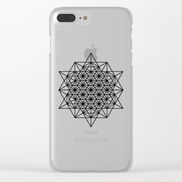 Star tetrahedron, sacred geometry, void theory Clear iPhone Case