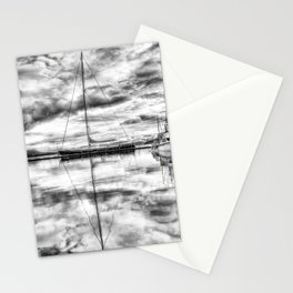 Silver Sailboat Stationery Cards