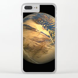Globe20/For a round heart Clear iPhone Case