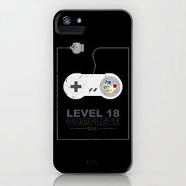 level 18 unlocked complete geburtstag 18. iPhone Case