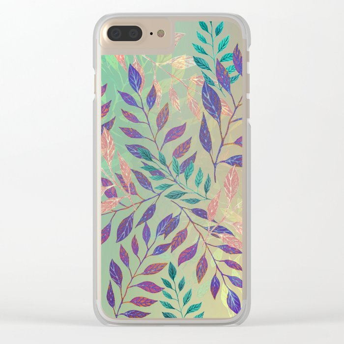 Abstract Leaf Arrangement (Atmospheric) Clear iPhone Case