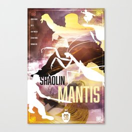 Shaw Brothers Poster Series :: Shaolin Mantis Canvas Print