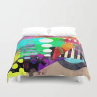 good vibes Duvet Covers featuring Good Vibes by Lynsey Ledray