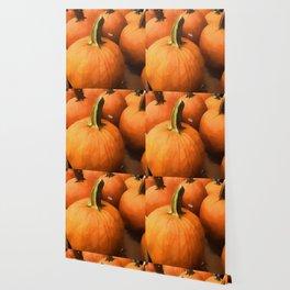 Pumpkins on Cart Wallpaper