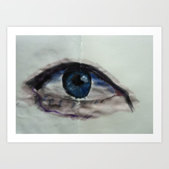 Watercolor Eye Art Print