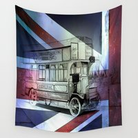 "general Wall Tapestries featuring Old Bus ""General STYPE"" British by shannon's art space"