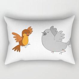 Había una vez un Hornerito - Once upon a time a Furnarius Rectangular Pillow