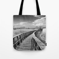 bridge Tote Bags featuring Bridge by Guido Montañés