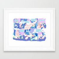 moon phase Framed Art Prints featuring PHASE by rectify