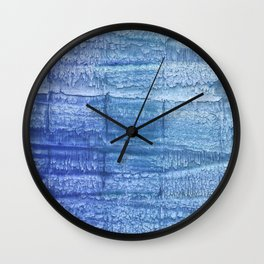 Deep blue painting Wall Clock