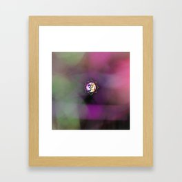 Space Om Framed Art Print