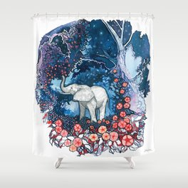 Elephant Totem Shower Curtain