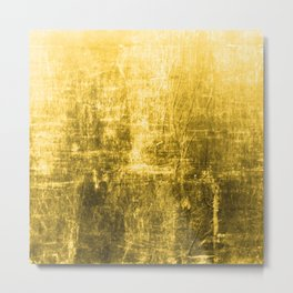 SunYellowTextured & Distressed Design Metal Print
