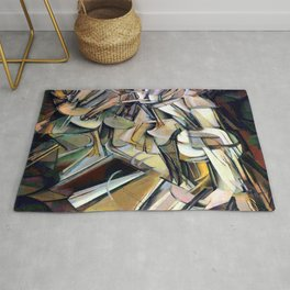 Marcel Duchamp Nude Descending a Staircase Rug