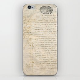 French Contract 1697 iPhone Skin