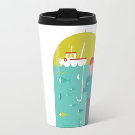 Umbrella print Travel Mug