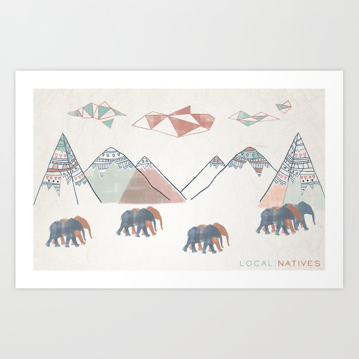 Local Natives Art Print